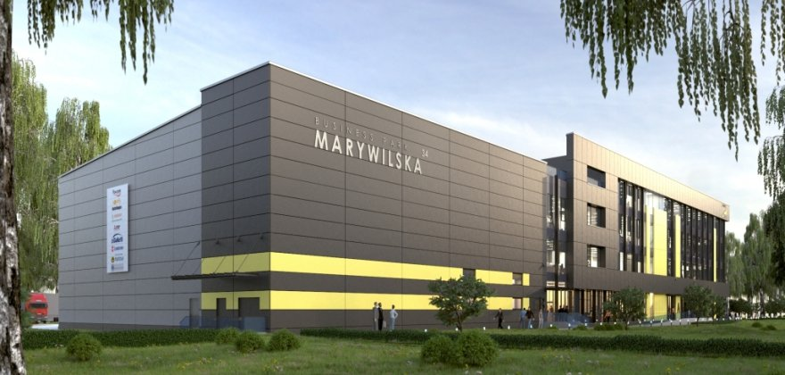 Business Park Marywilska office building and warehouse at 34 Marywilska Street in Warsaw